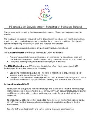 thumbnail of PE and Sport Development Funding 2017-18