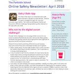 thumbnail of Online Safety Newsletter April 2018