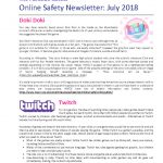 thumbnail of Online Safety Newsletter July 2018