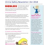 thumbnail of Online Safety Newsletter Oct 2018