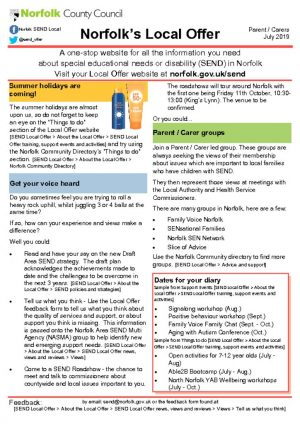 thumbnail of Norfolk Local Offer Newsletter