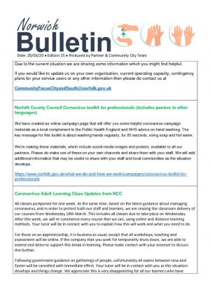 thumbnail of Norwich Help Hub Bulletin v15 200320