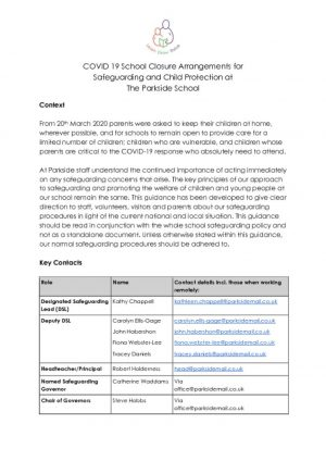 thumbnail of COVID 19 School Closure Arrangements Safeguarding and Child Protection