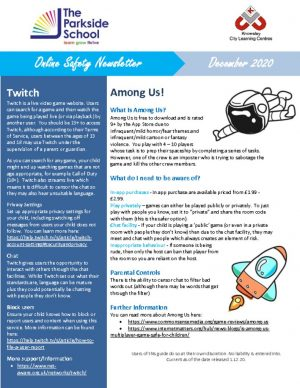 thumbnail of Online Safety Newsletter Dec 2020_The Parkside