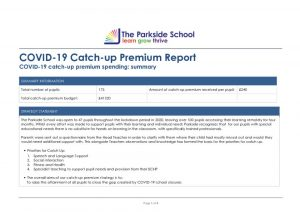 thumbnail of COVID-19 catch-up premium report