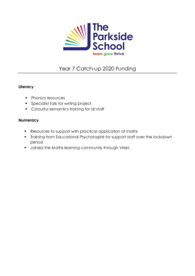 thumbnail of Year 7 Catch-up 2020 Funding